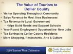 the value of tourism to collier county