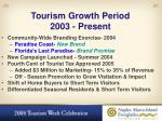 tourism growth period 2003 present
