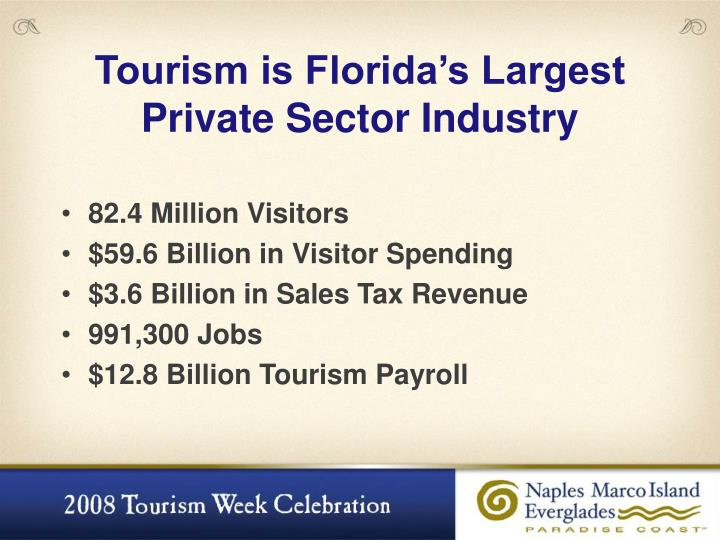 Tourism is Florida's Largest
