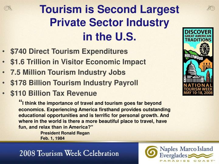 Tourism is Second Largest