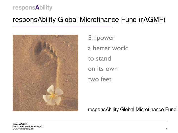 Responsability global microfinance fund ragmf