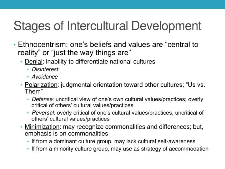 Stages of Intercultural Development