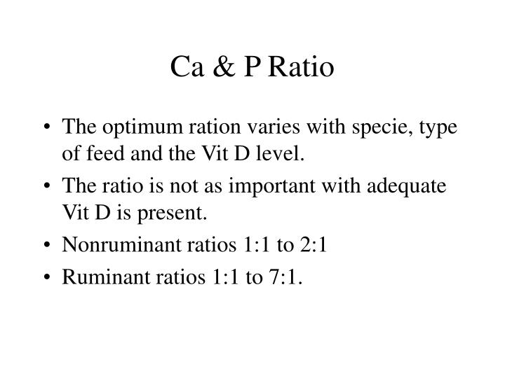 Ca & P Ratio