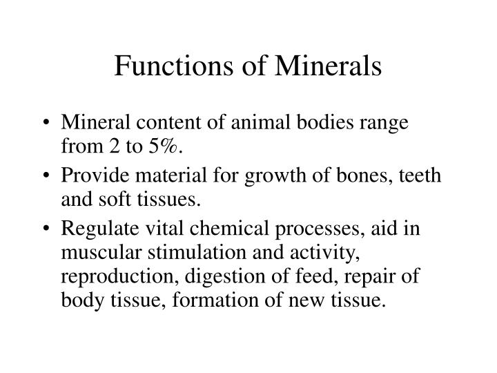 Functions of Minerals