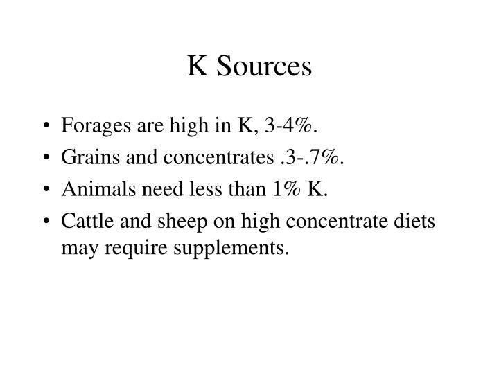 K Sources