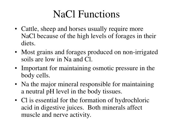 NaCl Functions
