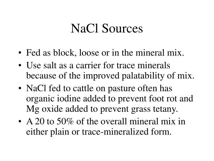 NaCl Sources