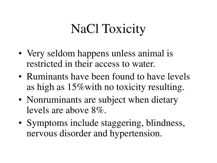 NaCl Toxicity