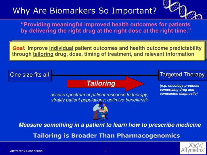 Why are biomarkers so important
