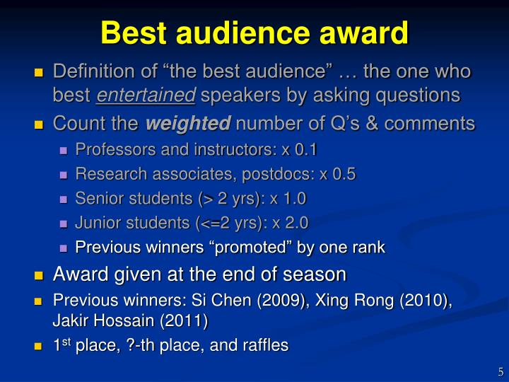 Best audience award
