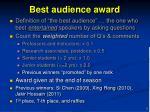 best audience award1