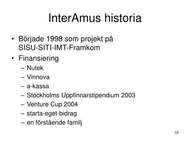 InterAmus historia