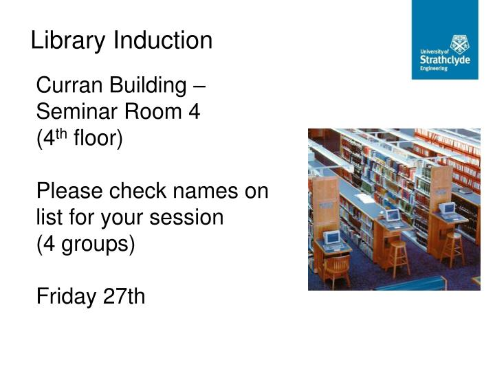 Curran Building – Seminar Room 4
