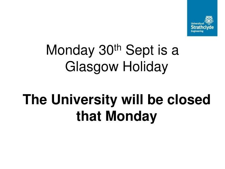Monday 30