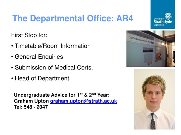 The Departmental Office: AR4