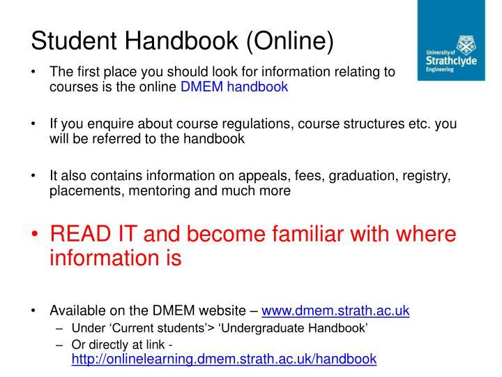 Student Handbook (Online)