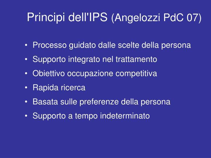 Principi dell'IPS