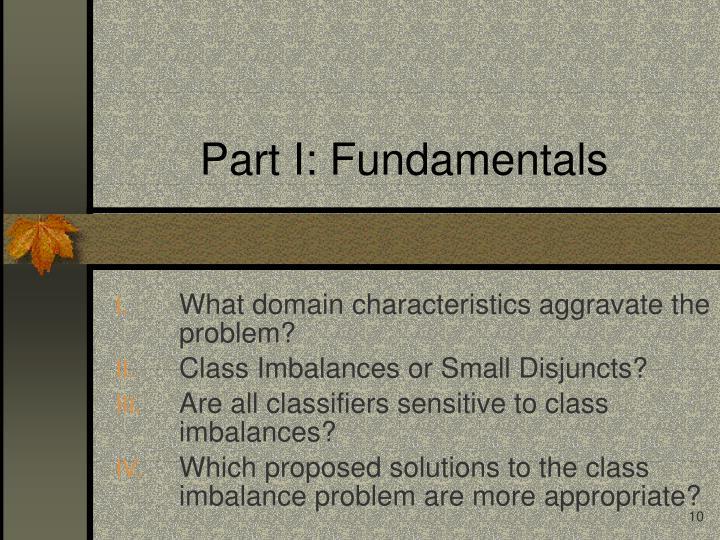 Part I: Fundamentals