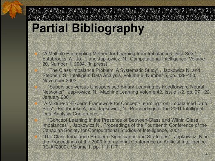 Partial Bibliography