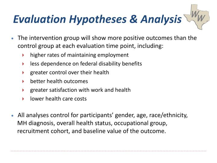 Evaluation Hypotheses & Analysis