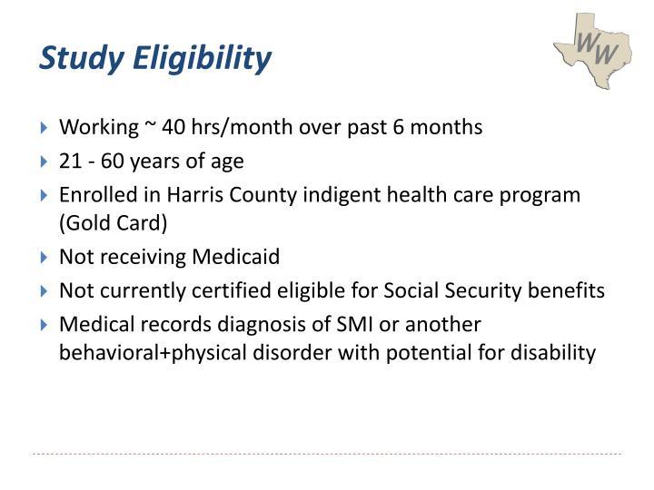 Study Eligibility