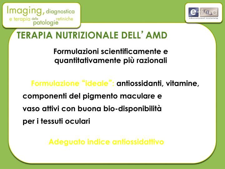 TERAPIA NUTRIZIONALE DELL