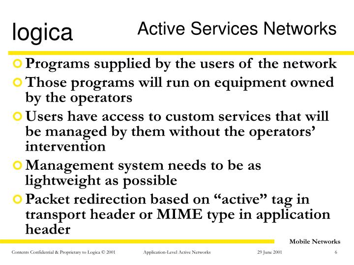 Active Services Networks