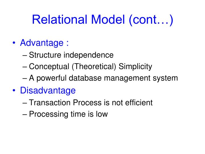 Relational Model (cont…)