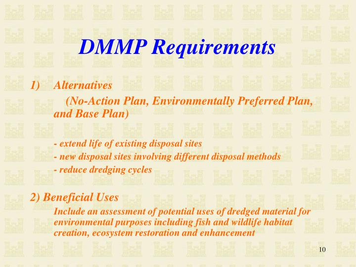 DMMP Requirements