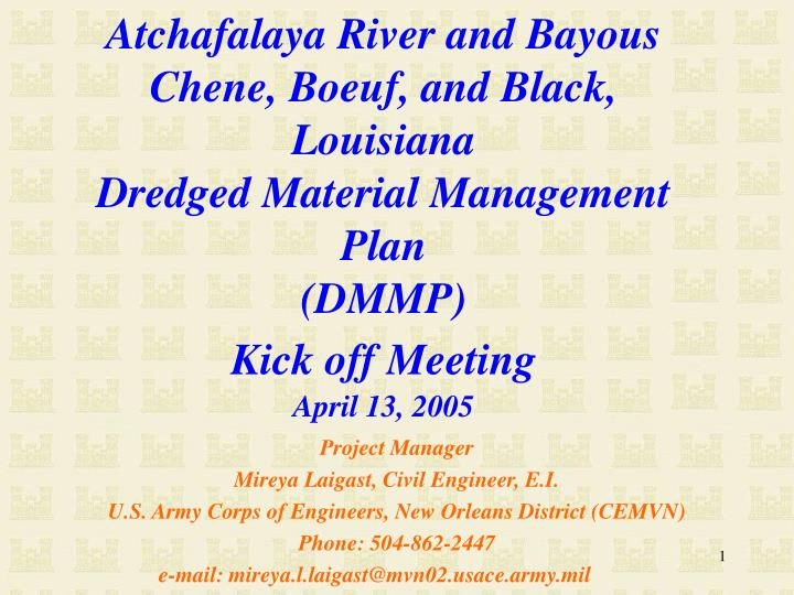 Atchafalaya River and Bayous Chene, Boeuf, and Black, Louisiana