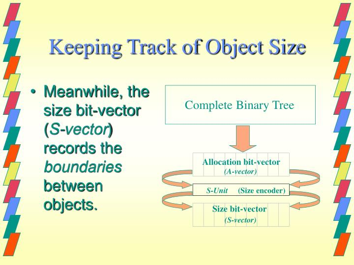 Keeping Track of Object Size