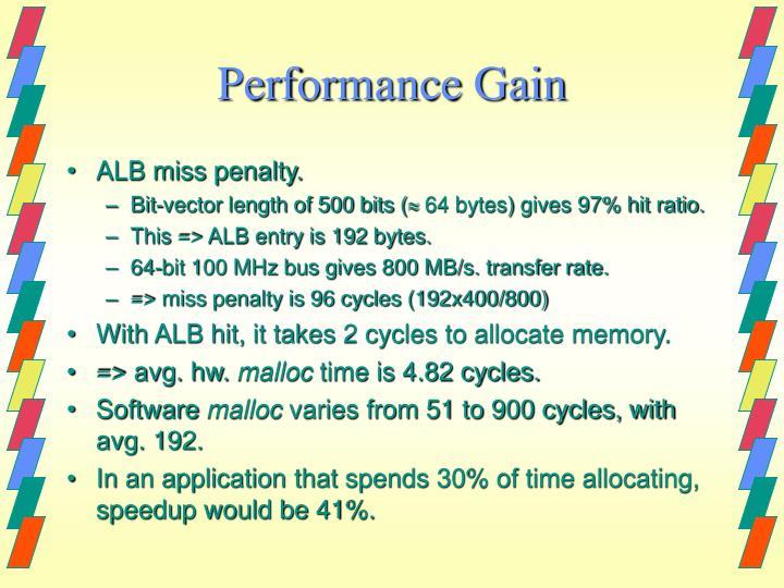 Performance Gain