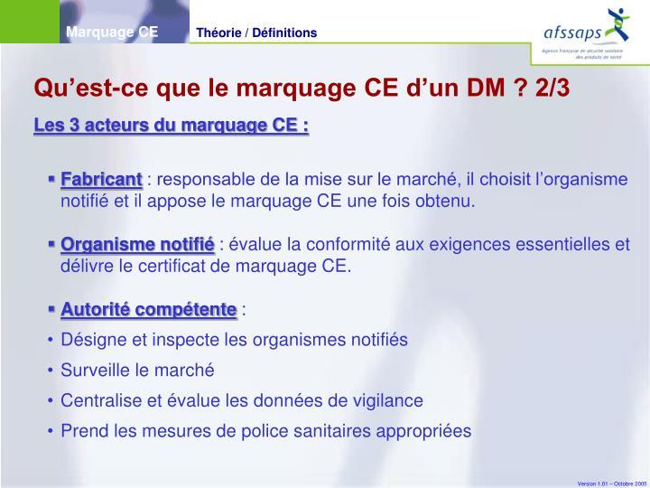 Qu'est-ce que le marquage CE d'un DM ? 2/3