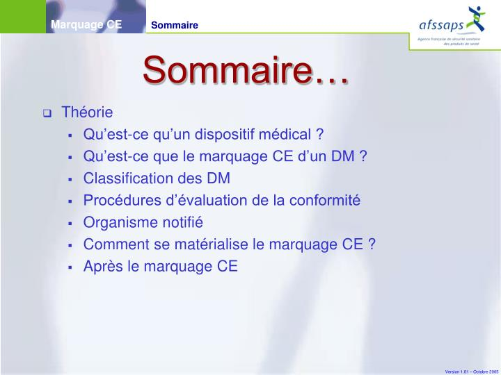 Sommaire…