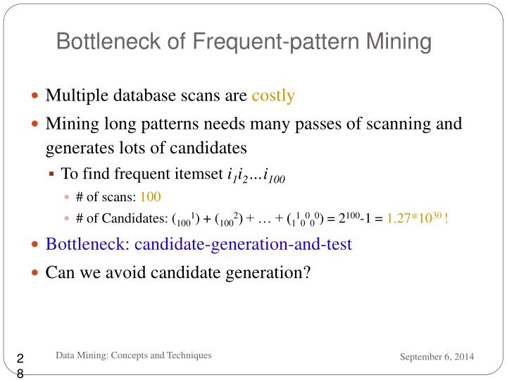 Bottleneck of Frequent-pattern Mining