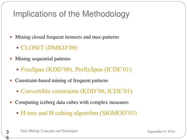 Implications of the Methodology