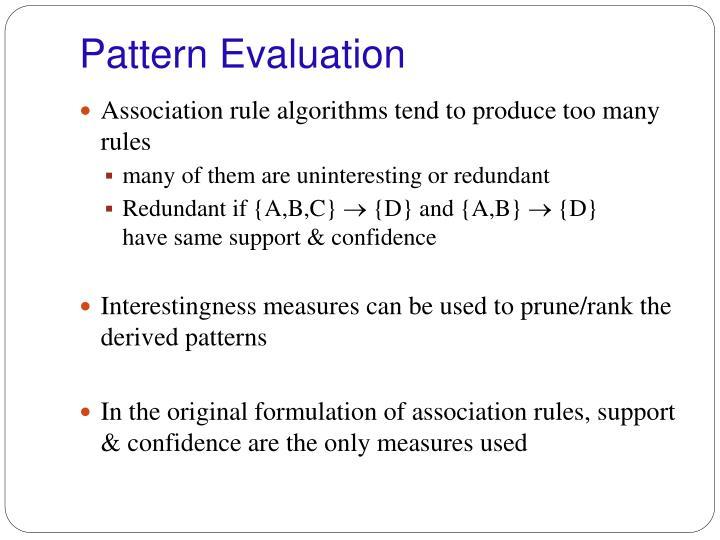 Pattern Evaluation