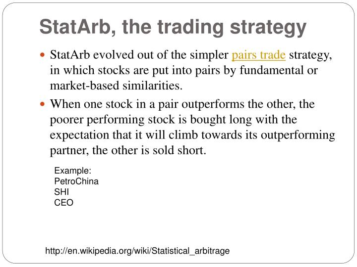 StatArb, the trading strategy