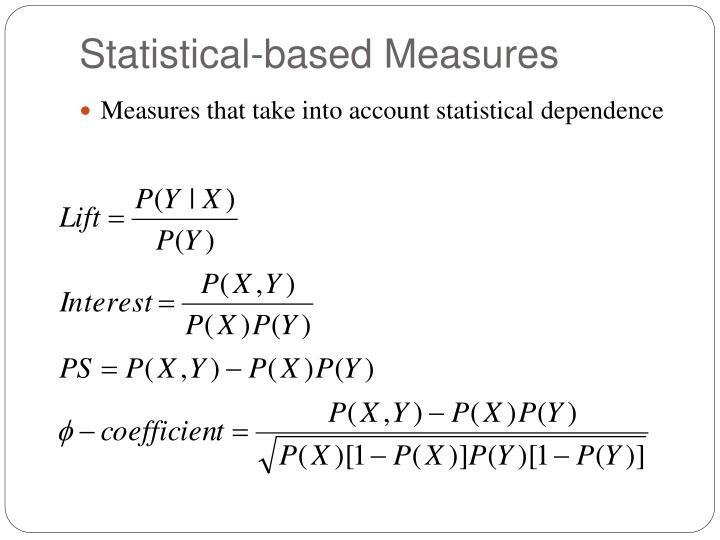 Statistical-based Measures
