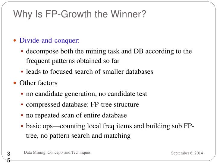 Why Is FP-Growth the Winner?