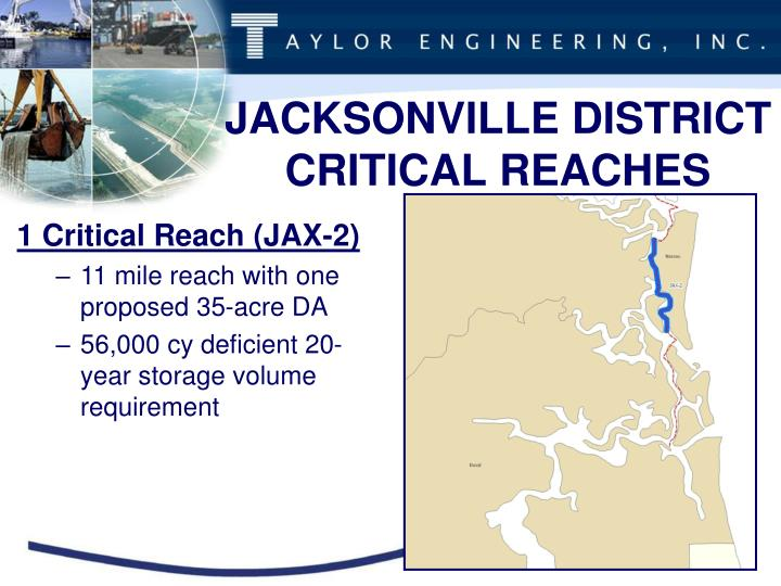 JACKSONVILLE DISTRICT CRITICAL REACHES
