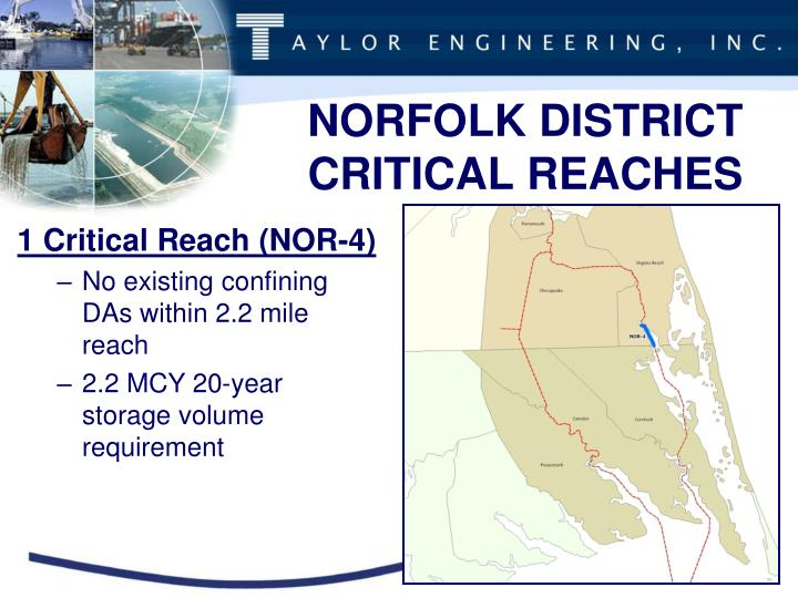 NORFOLK DISTRICT CRITICAL REACHES
