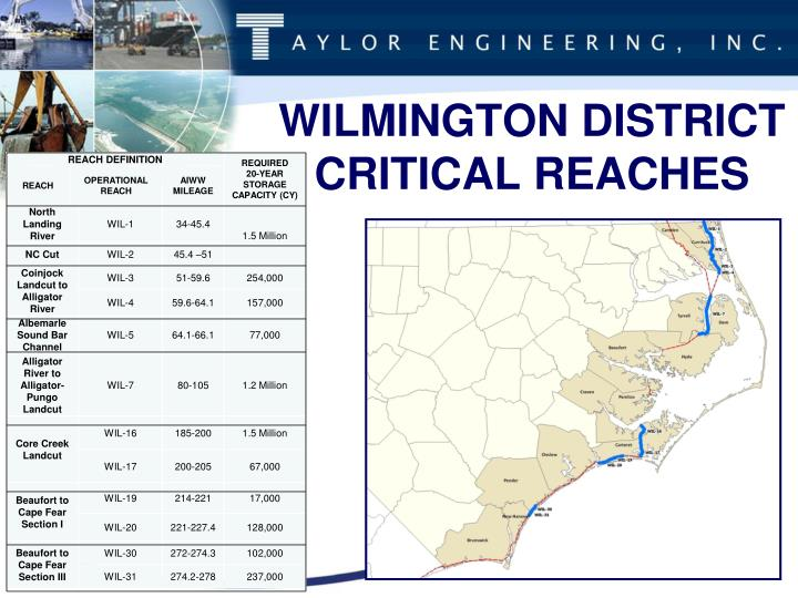 WILMINGTON DISTRICT CRITICAL REACHES