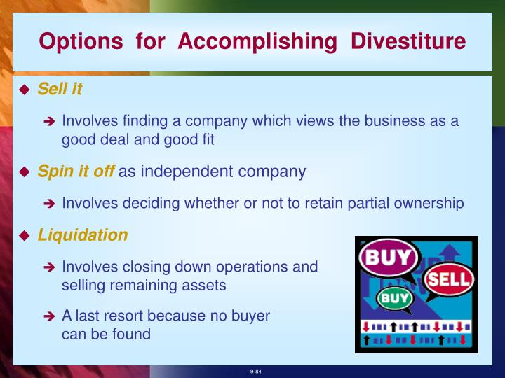 Options  for  Accomplishing  Divestiture