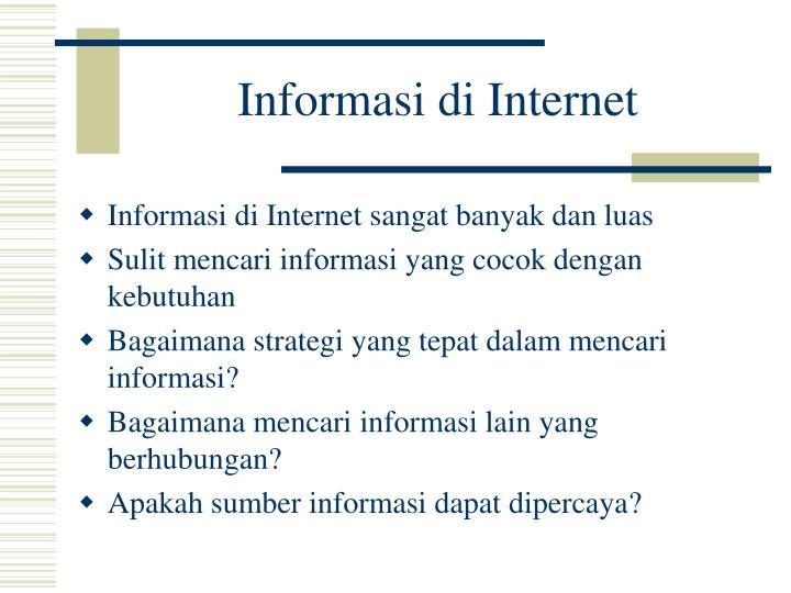 Informasi di Internet