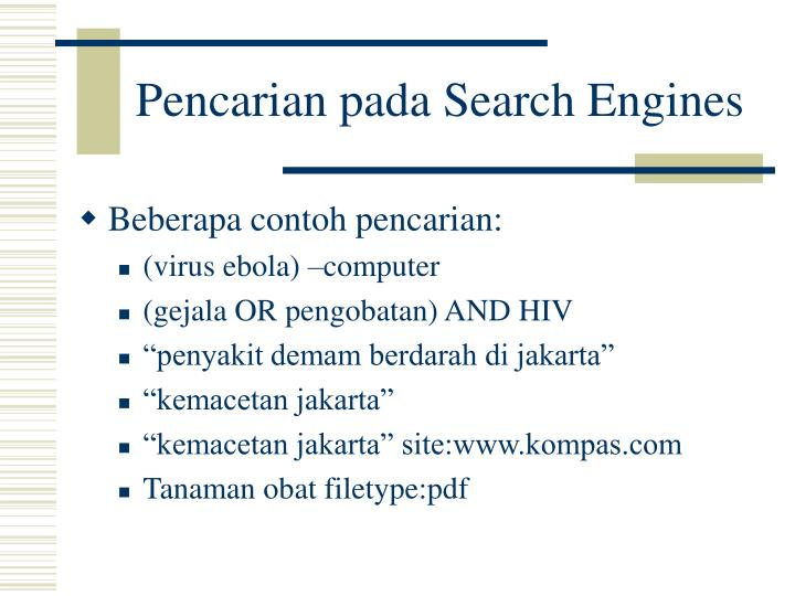 Pencarian pada Search Engines