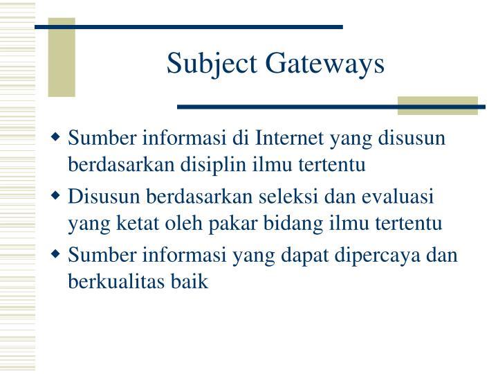 Subject Gateways