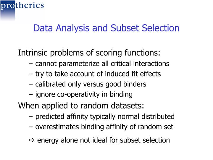 Data Analysis and Subset Selection
