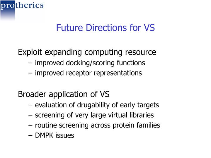 Future Directions for VS