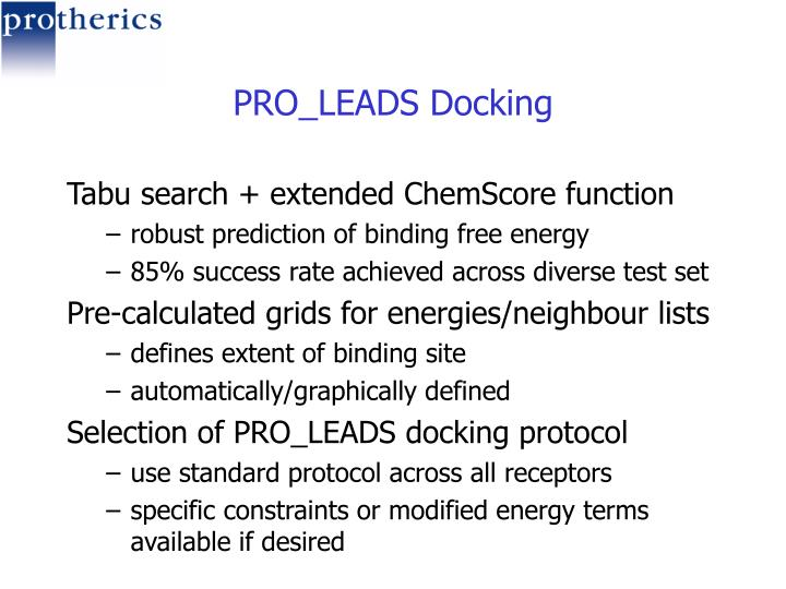 PRO_LEADS Docking